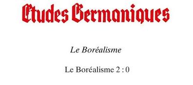 Etudes Germaniques : numéros sur le Boréalisme
